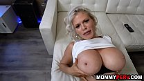 Son fucks and facializes his hot busty step mom thumbnail