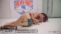 Image: Savannah Fox mixed nude wrestling winner fucks the guy