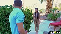 Amazing Asian Stepsister Fed up With Stepbro jerking off at her, so she fucks him! - Jade Kush thumbnail