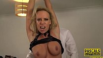 Bound milf tied up and fucked rough