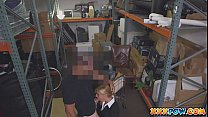 Sexy MILF banged and moans loud in pawn shop! thumbnail