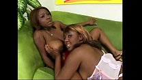 Busty black lesbian gets her cunt licked by her blonde ebony GF