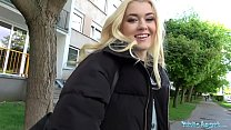 Public Agent Hot blonde student fucked doggy st...