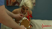 18214 Blond decorates gingerbread house with enema squirts and eats it preview