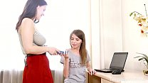 Beauty-Angels.com - Jemma & Ole Nina - Brunettes, dildo and a laptop