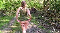 Amazing teen with big ass gets fucked in the forest | POV Fiona Fuchs thumbnail