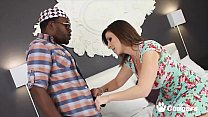 Sara Jay Lets 2 Black Guys Cum In Her Mouth