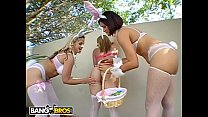 BANGBROS - Easter Bunny Fever with Sarah Vandella, Kirra Lynne, & Miss Raquel thumbnail