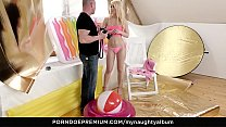 MY NAUGHTY ALBUM - Slim babe poses for photographer then bangs him hard