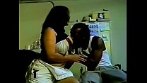 Experienced busty brunette Chilli is not against to date with ebony fellow