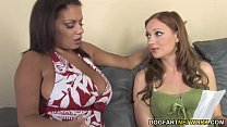 Interracial lesbian sex with Christina Michaels Alexis Silver