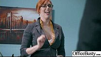 (Lauren Phillips) Sexy Big Tits Office Girl Love Hard Sex clip-22 Image
