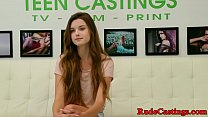 Casting teen screwed hard and fed with cum