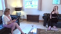 Unfaithful british milf lady sonia pops out her...