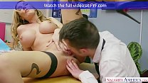 Image: Naughty America - Find Your Fantasy Teacher Stacey Saran fucking in the chair with her tits