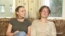 Amateur Lesbians Tamara and Sophia Get it on