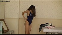 Japanese schoolgirl wear a swimsuit to take off...