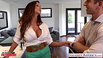 Busty mom Ariella Ferrera gets fucked and facialized porn image