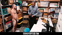Straight Latino Guy With Tattoos Fucked By Black Gay Security Officer With Huge Dick