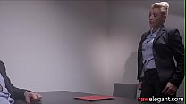 MILF babe assfucked during interrogation Preview