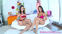 SWALLOWED Blowjob threesome with two Lina babes - 9Club.Top