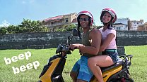 CULIONEROS - We Find Latin Babe Juliana On A Scooter And Bring Her Home