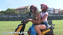 CULIONEROS - We Find Latin Babe Juliana On A Scooter And Bring Her Home Image