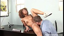 ebony teen teasing and letting her professor fuck her choco pussy