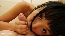 JAV teen Marica Hase gives a cosplay blowjob