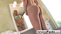 Cutie Vanessa Cage rides her guy until he creams all over her butt
