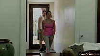 Naughty stepdaughter seduces her stepdad
