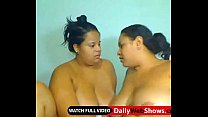 Latin bbw lesbian kiss each other and play with big boobs - DailyWebShows.com