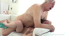 Old-n-Young.com - Luna Rival - Old man makes sw...