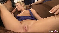 Image: Blonde Teen Seduce Hot Couple to Fuck in Anal FFM Threesome