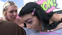 SWALLOWED Five star blowjob with Eden and Zelda preview image