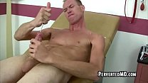 A tall hot guy has a metal rod in his cock he jerks