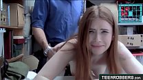 Petite Redhead Teen Thief Fucked in Doggystyle by Mall Guard - Teenrobbers.com