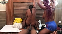 Threesome with big black dick