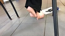 Candid Bare Feet in Classroom Part 1- www.prettyfeetvideo.com