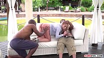 Interracial double penetration outdoors Preview