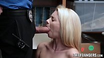 Reluctant Teen Thief Riley Star Made To Suck & Fuck Store Officer Cock Image