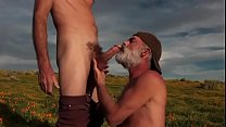 daddy get blowjob outdoor