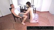 Hard fuck for amateur teen creampie pussy