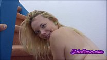 Big cock is delivered to the horny teen blonde