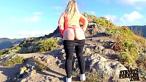 15839 Hot Blonde Tourist Flashing Her Big Booty Outdoors Tenerife! preview