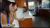 BANGBROS - Amara Romani and Izzy Bell Seduce Ricky Johnson