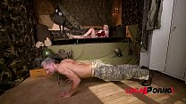 Ever-Horny Soldier Olivia Sin Foot Fucked Until Cumshot At Hidden Army Base Gp319