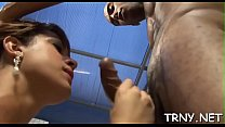 Kinky teen ts slut lures a str8 fellow with perfect arse