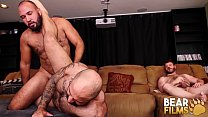 BEARFILMS Angel Ferrari Fucks Beefy Cub While Voyeur Wanks
