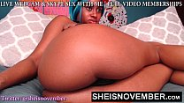 6126 Big Thunder Thighs Having Black Hot Babe Msnovember Flashing Pink Pussy On Webcam And Tight Booty Hole Butt Plug Anal Play HD Sheisnovember preview